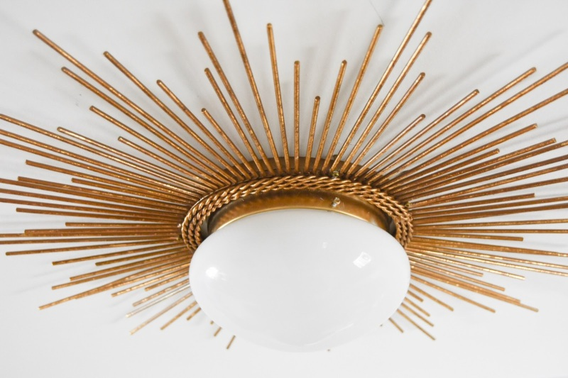 sunburst starburst light fixture DIY