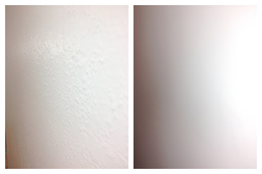 skimcoat textured walls DIY before after bedroom