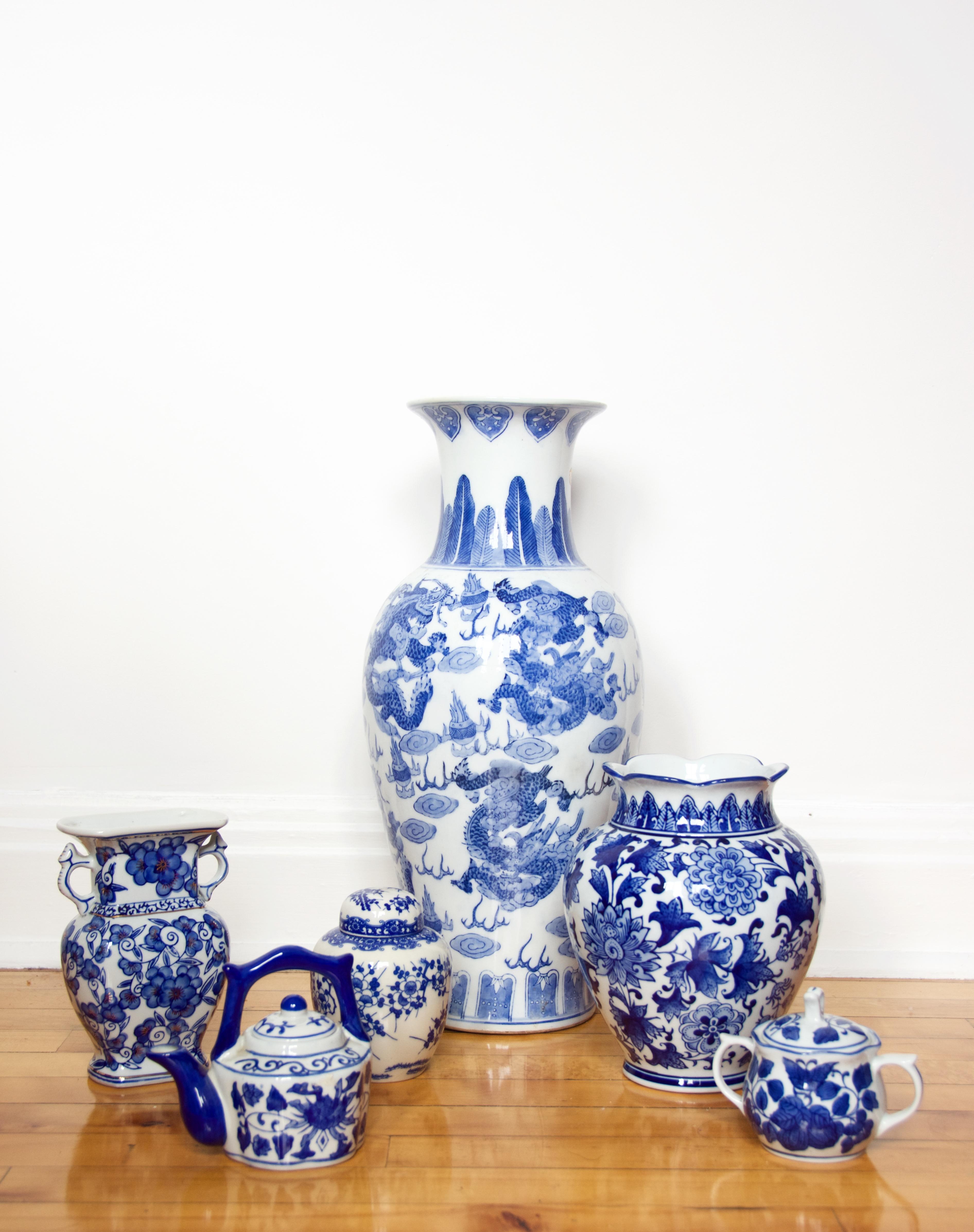 blue and white china porcelain pottery vase jar chinoiserie 3 (1)