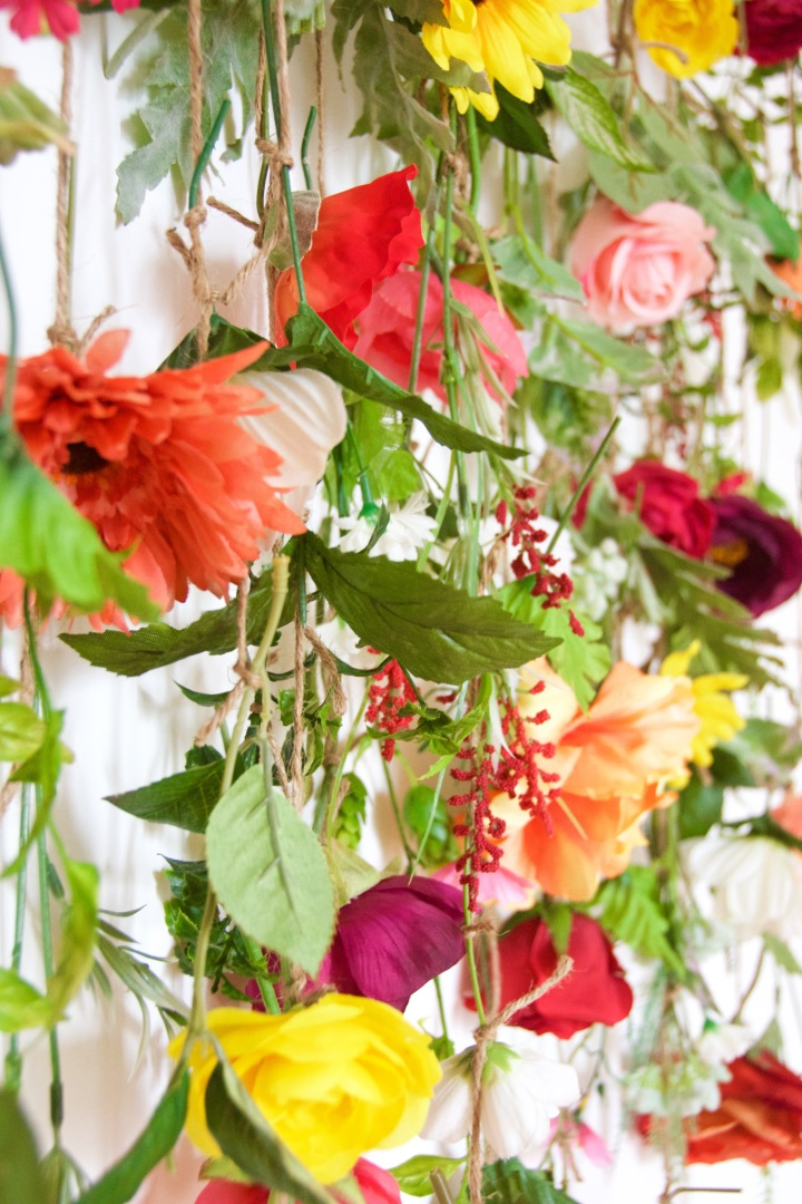 floral wall hanging DIY wall art 2