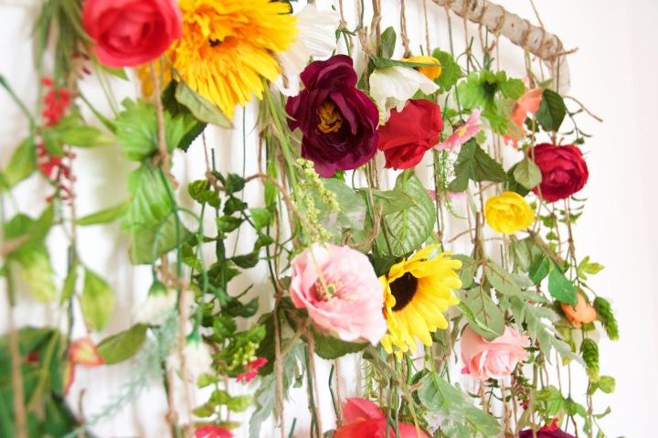 floral wall hanging DIY wall art 3