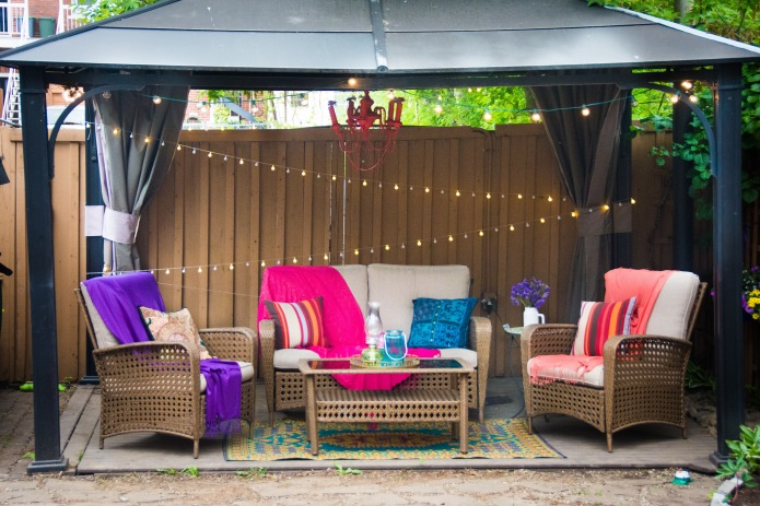 String Lights Dollarama : Creating A Bohemian Backyard Oasis Eclectic Spark