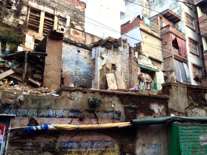 India rundown building travel