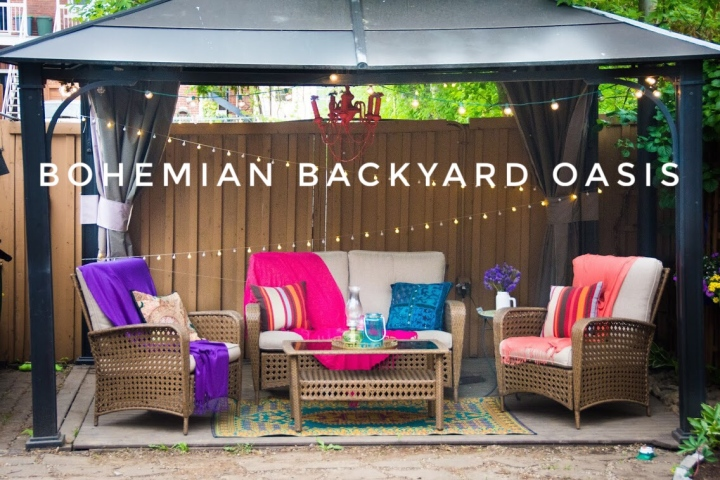 Creating A Bohemian Backyard Oasis