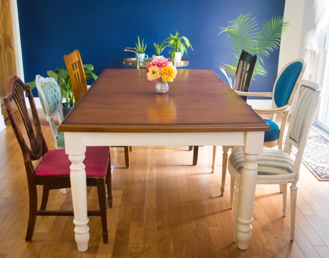 mismatched eclectic vintage dining chairs 2