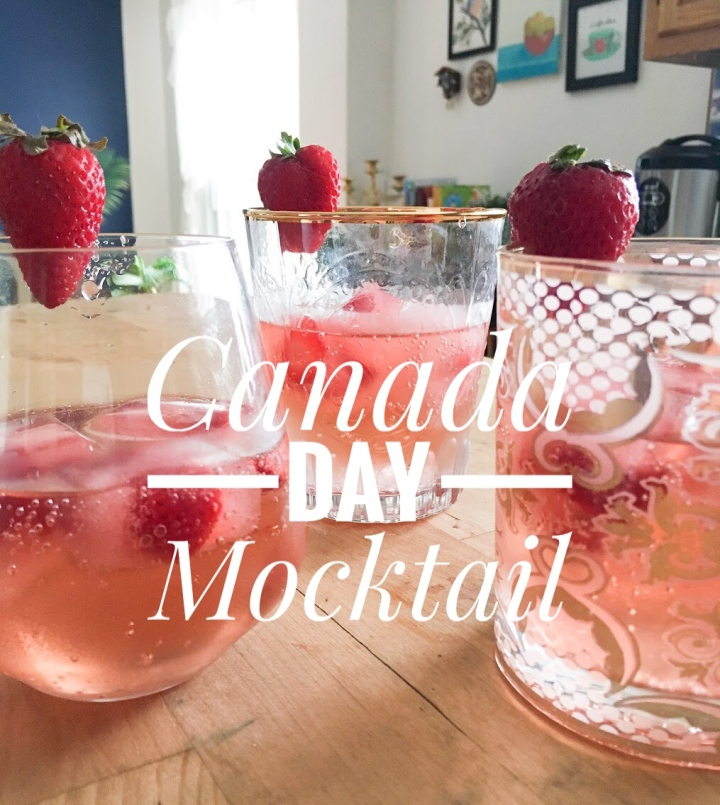 Fizzy Summer Mocktail for Canada Day
