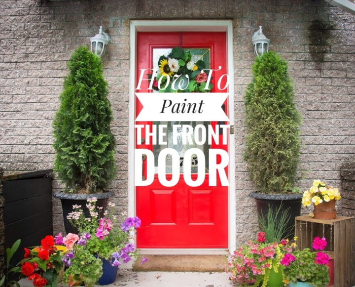 Painting The Front Door Red DIY