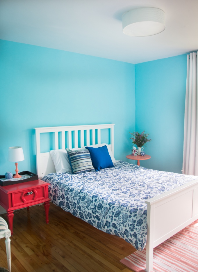 guest bedroom decor style interior decorating blue coral
