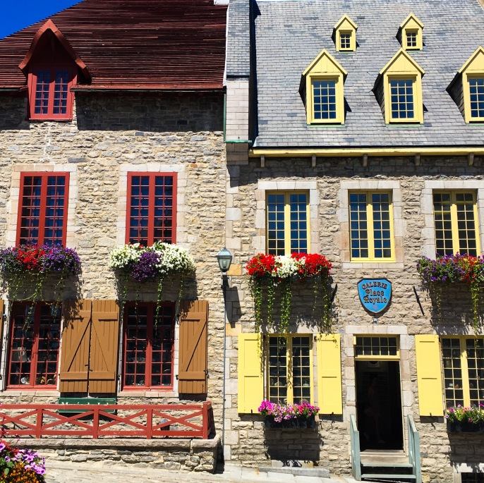 Old Quebec City building facades