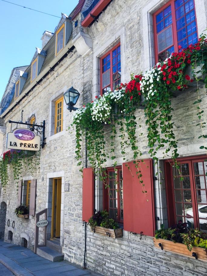 Old Quebec City flower boxes