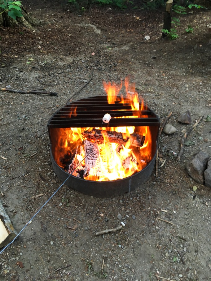 PARC NATIONAL DES HAUTES-GORGESDE-LA-RIVIÈRE-MALBAIE camping campfire roasting marshmallow