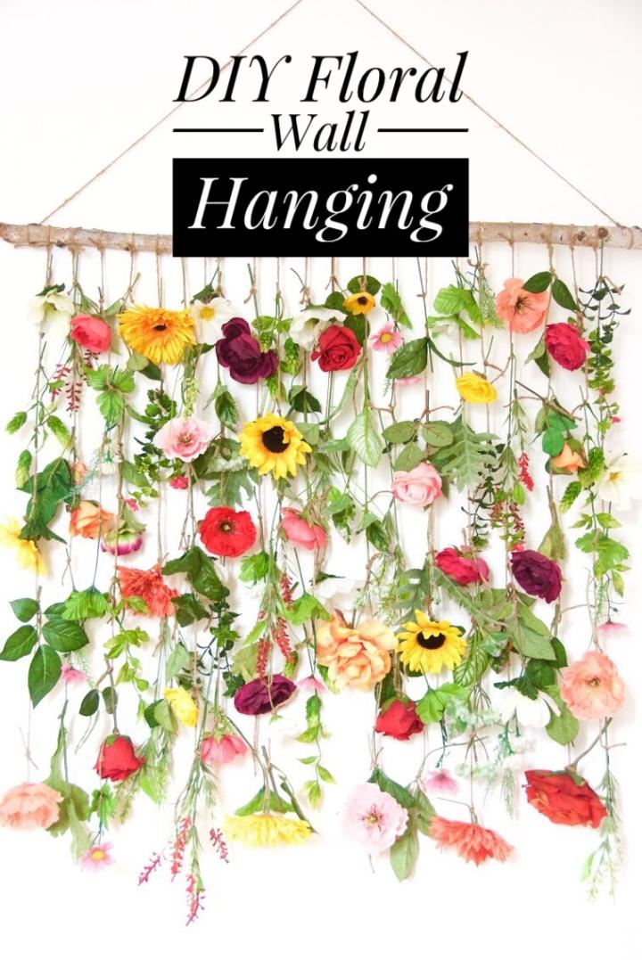 DIY Floral WallHanging