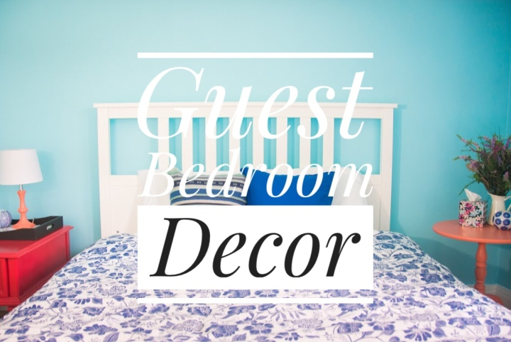 Blue & Coral Guest Bedroom