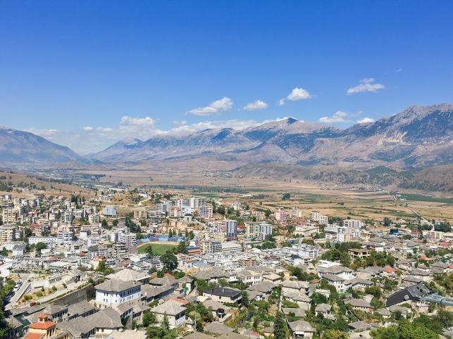 Albania Gjirokaster panoramic view travel