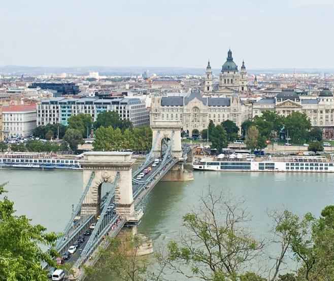 Budapest travel Chain Bridge Danube River