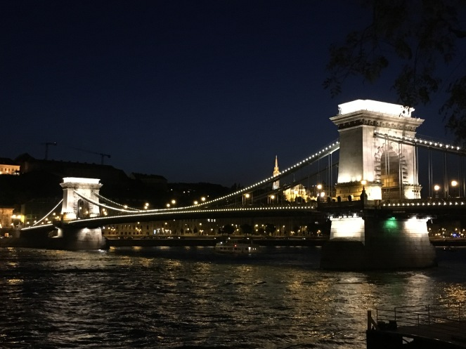 Budapest travel Chain bridge night