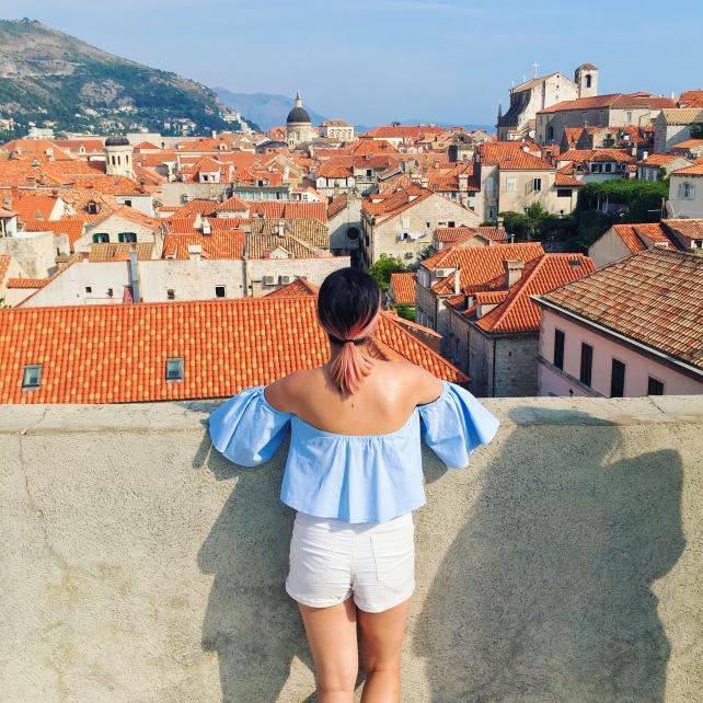 Croatia Dubrovnik city walls walk old town travel fashion