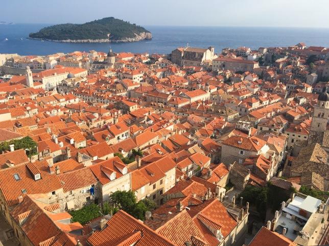 Croatia Dubrovnik travel city walls walk old town panoramic view