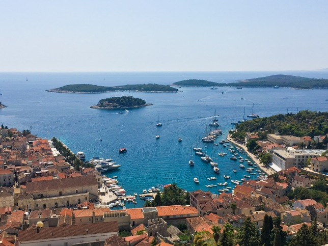 Croatia Hvar travel port rooftops