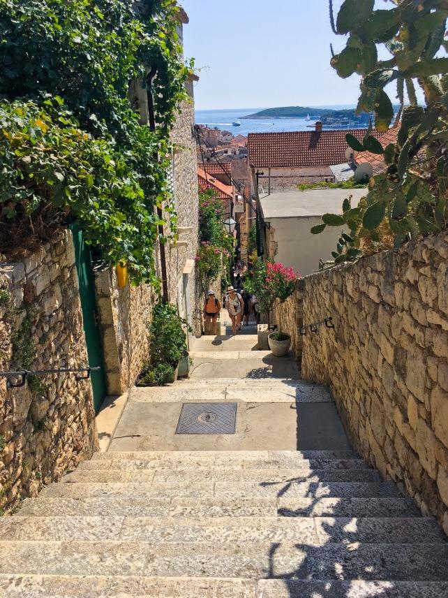 Croatia Hvar travel steps