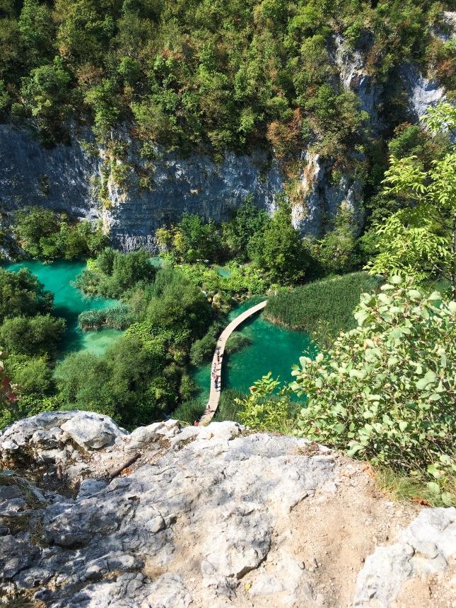 Croatia Plitvice Lakes hike travel boardwalk
