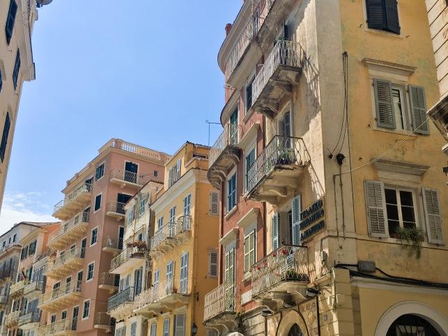 Greece Corfu travel old town