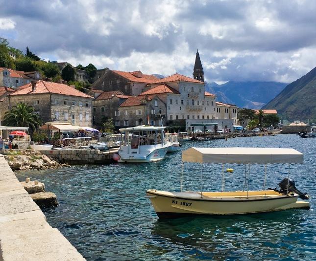 Montenegro Perast harbour boats