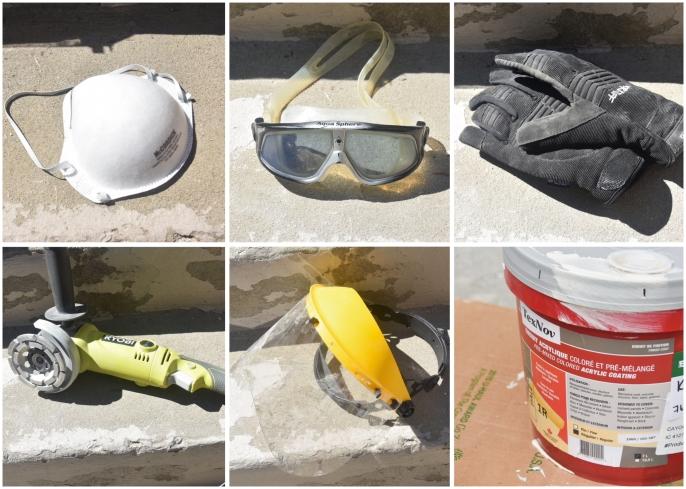 DIY concrete stair step repair materials