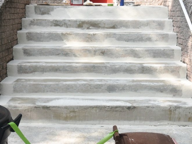 DIY Concrete Stair Step Repair Painting With Textured Paint