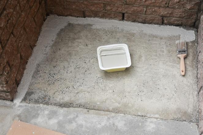 DIY Concrete stair steps repair texture paint