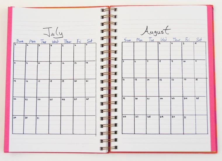 DIY 2018 calendar agenda planner 3