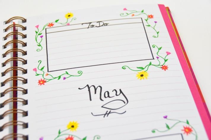 DIY 2018 calendar agenda planner 4