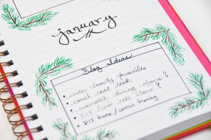 DIY 2018 calendar agenda planner 5