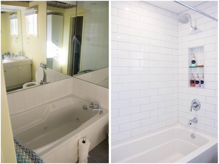 bathroom renovation remodel before and after shower bathtub