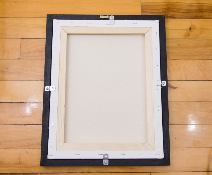 DIY framing canvas painting offset clips