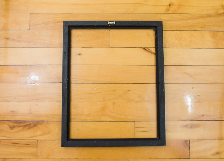 DIY framing canvas painting remove glass from picture frame