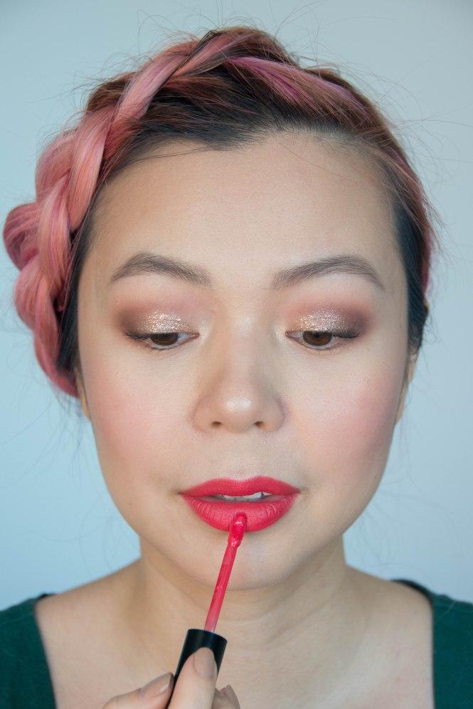 Valentine's Day makeup beauty tutorial Ciate London Liquid Velvet Fast Lane