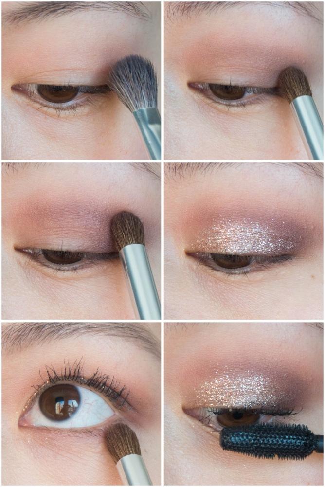 Valentine's Day makeup beauty tutorial Stila Glitter and Glow Liquid Eye Shadow Rose Gold Lorac Unzipped Palette Maybelline Rocket Volume mascara