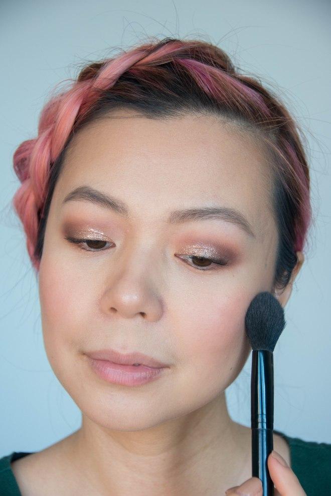 Valentine's Day makeup beauty tutorial Urban Decay blush rapture Stila Perfect Me Perfect Hue medium tan mysterious blush
