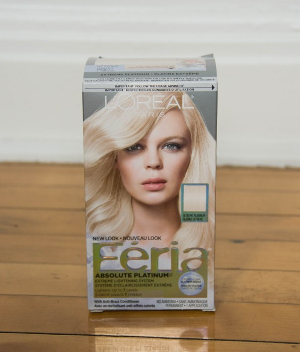 L'Oreal Feria Absolute Platinum Advanced Lightening System DIY bleach hair at home dye hair pink Montreal lifestyle beauty fashion blog blogger
