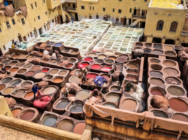Fes leather tannery Morocco travel Montreal lifestyle fashion beauty blog