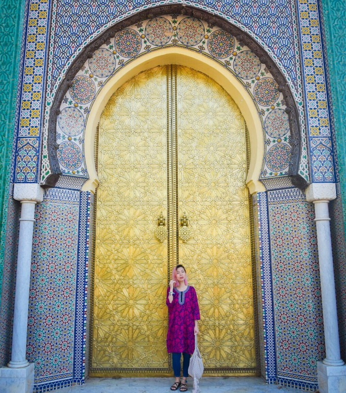 Fes Palace gold doors Morocco travel Montreal lifestyle fashion beauty blog
