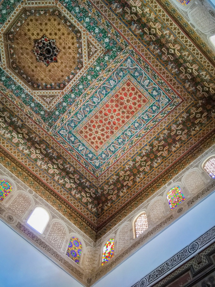 Morrish tiled decorative ceiling Morocco travel Montreal lifestyle fashion beauty blog 2