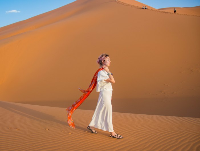 Sahara Desert sand dune Morocco travel Montreal lifestyle fashion beauty blog 3