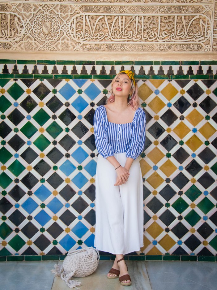 Granada Alhambra tiles Spain travel Montreal lifestyle fashion beauty blog