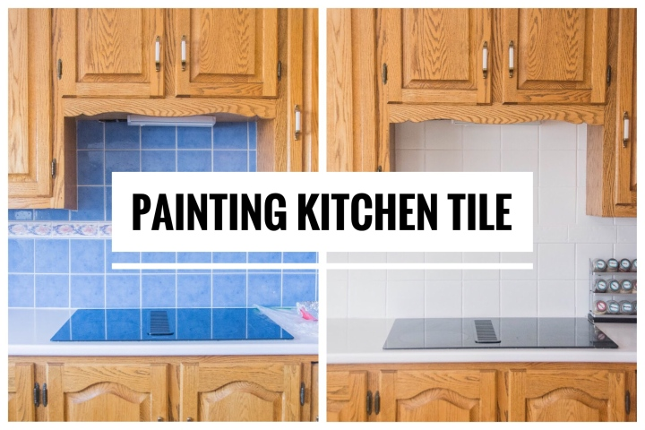 DIY Painting Kitchen Tiles