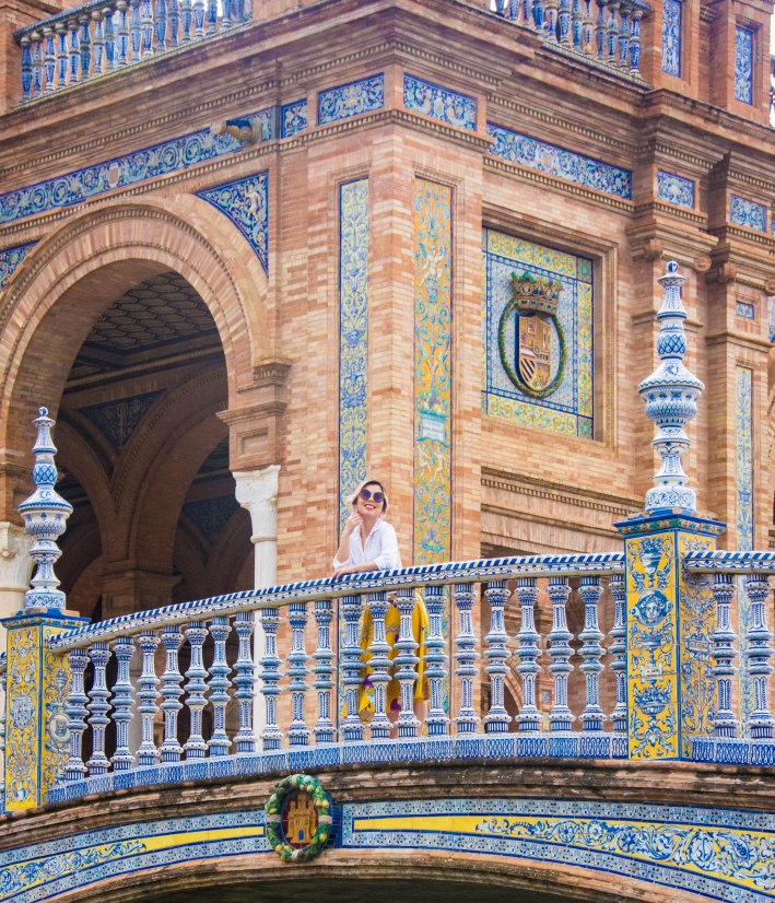 Sevilla Plaza de Espana Spain travel Montreal lifestyle fashion beauty blog 3
