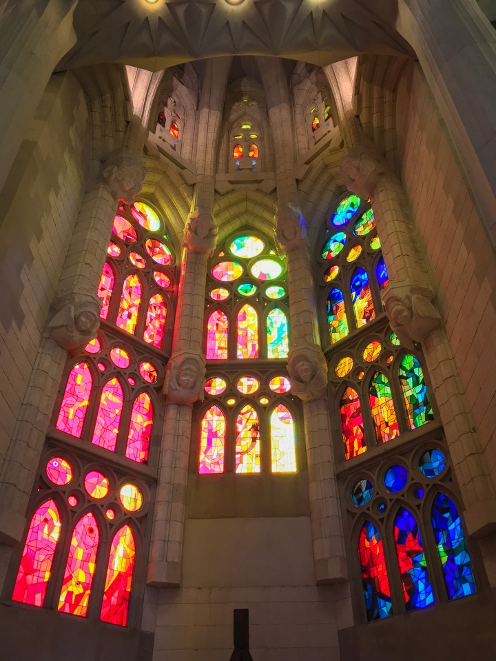 stained glass Sagrada Familia Barcelona Spain travel Montreal lifestyle fashion beauty blog 5